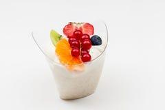 Risgrynsgröt från frukt royaltyfri fotografi
