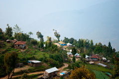 Rishap- Nature tourism. Nature tourism landscape of Rishap near Kalimpong, India. Rishap small village on the hill top can be reached from Lava on trekking (only Royalty Free Stock Image