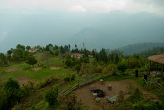 Rishap- Nature tourism. Nature tourism landscape of Rishap near Kalimpong, India. Rishap small village on the hill top can be reached from Lava on trekking (only Royalty Free Stock Photo