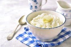 Rishavregröt eller pudding för en frukost Fotografering för Bildbyråer