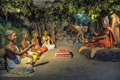 Rishi Patanjali che dà le lezioni al suo Gurukul, per la matematica di Kaneri, Kolhapur, maharashtra Immagine Stock