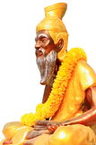 Rishi statue. A statue of rishi with isolate background royalty free stock image