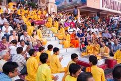 Rishikesh Bhajan Program Stock Photos