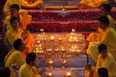 Rishikesh Ganga Arati imágenes de archivo libres de regalías