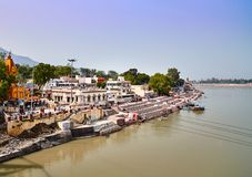 Rishikesh, holy town in India Royalty Free Stock Photography