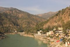 Rishikesh, Inde, rivière le Gange photographie stock libre de droits