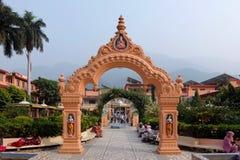 Beautiful view of Parmarth Niketan Ashram in Rishikesh Stock Photography