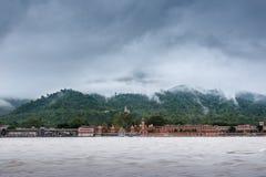 Rishikesh na Ganges zdjęcia royalty free