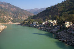 Rishikesh-Town situated at riverside-I Stock Images