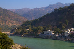 Rishikesh-Town situated at riverside-II Royalty Free Stock Images