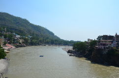 Rishikesh, turismo de Uttarakhand, turismo, lugar do turista, turismo indiano, lugar santo em india, rio, rio do ganga Imagens de Stock Royalty Free