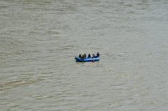 Rishikesh, turismo de Uttarakhand, turismo, lugar do turista, turismo indiano, lugar santo em india, rio, rio do ganga Foto de Stock Royalty Free