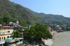 Rishikesh, turismo de Uttarakhand, turismo, lugar do turista, turismo indiano, lugar santo em india, rio, rio do ganga Fotos de Stock