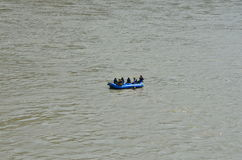 Rishikesh, Uttarakhand tourism, tourism, tourist place, indian tourism, holy place in india, river, ganga river. River rafting at ganga river, rishikesh Royalty Free Stock Photo