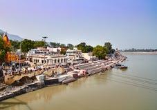 Rishikesh, ville sainte dans l'Inde Photographie stock libre de droits