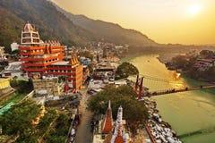 Rishikesh, yogastad India, Gange-Riviervallei, Ganga, Uttarakhand Stock Fotografie