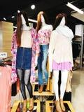 RISHON LE锡安,以色列2018年1月12日:在一个时装模特的衣裳在商店 商城 库存照片