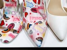 RISHON LE锡安,以色列2017年12月17日:柔和和有趣的妇女` s鞋子 库存图片