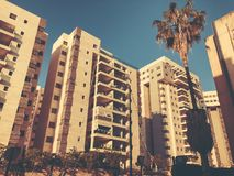 RISHON LE锡安,以色列- 2018年4月23日:高居民住房在Rishon Le锡安,以色列 库存照片
