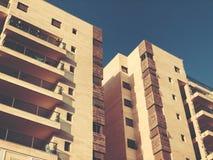RISHON LE锡安,以色列- 2018年4月23日:高居民住房在Rishon Le锡安,以色列 免版税图库摄影