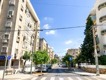 RISHON LE锡安,以色列- 2018年6月19日:高居民住房在Rishon Le锡安,以色列 库存照片