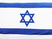 RISHON LE СИОН, ИЗРАИЛЬ - национальный флаг 27-ое июня 2018 Израиля в Rishon Le Сион, Израиле стоковое изображение rf