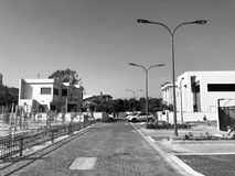 RISHON LE СИОН, ИЗРАИЛЬ - 30-ОЕ АПРЕЛЯ 2018: Улица в Rishon LeZion, Израиле Стоковое Фото