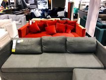 Rishon LE Zion, Ισραήλ - 16 Δεκεμβρίου 2017: Εσωτερικό κατάστημα επίπλων ` Ikea ` στο Ισραήλ Στοκ Εικόνες