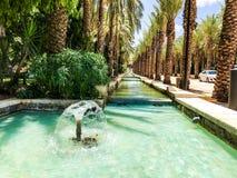 RISHON LE ZION, ISRAËL - 18 JUIN 2018 : Les fontaines dans la ville se garent en Rishon Le Zion, Israël images stock