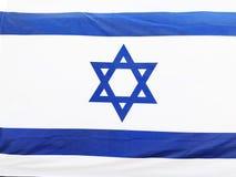 RISHON LE ZION, ISRAËL - Juni 27, de nationale vlag van Israël van 2018 in Rishon Le Zion, Israël royalty-vrije stock afbeelding
