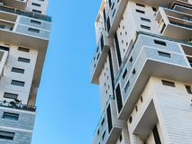 RISHON LE ZION, ISRAEL -APRIL 23, 2018: High residential building in Rishon Lezion, Israel. RISHON LE ZION, ISRAEL -APRIL 23, 2018: High residential building in Stock Photo
