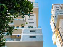 RISHON LE ZION, ISRAEL -APRIL 23, 2018: High residential building in Rishon Lezion, Israel. RISHON LE ZION, ISRAEL -APRIL 23, 2018: High residential building in Royalty Free Stock Photography