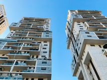 RISHON LE ZION, ISRAEL -APRIL 23, 2018: High residential building in Rishon Lezion, Israel. RISHON LE ZION, ISRAEL -APRIL 23, 2018: High residential building in Stock Photos