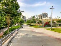RISHON LE ZION, ISRAEL - 30 DE ABRIL DE 2018: Entretenimento fora no parque em Rishon LeZion, Israel Fotos de Stock Royalty Free