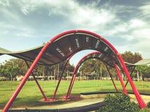 RISHON LE ZION, ISRAEL - 30 DE ABRIL DE 2018: Toldo no parque do ` s das crianças Entretenimento fora em Rishon LeZion, Israel Foto de Stock Royalty Free