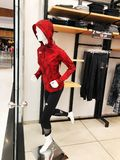 RISHON LE ZION, ISRAEL- DECEMBER 17, 2017: Clothes on a mannequins in a shop. Shopping mall. RISHON LE ZION, ISRAEL- DECEMBER 17, 2017: Clothes on a mannequins Stock Photo