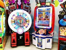 RISHON LE ZION, ISRAEL- DECEMBER 17, 2017: A gaming machine for children. Entertaining elements.  Royalty Free Stock Images