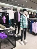 RISHON LE ZION, ISRAEL- JANUARY 3, 2018: Inside the clothing store at Azrieli Department Store in Rishon Le Zion Royalty Free Stock Photo