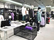 RISHON LE ZION, ISRAEL- JANUARY 3, 2018: Inside the clothing store at Azrieli Department Store in Rishon Le Zion Royalty Free Stock Images