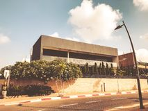 RISHON LE ZION, ISRAEL - JUNE 28, 2018: Private modern houses on the streets in Rishon Le Zion, Israel.  Royalty Free Stock Images
