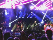 RISHON LE ZION, ISRAEL -MAY 2, 2018: Concert of British funk and acid jazz band Jamiroquai in Rishon Lezion, Israel. RISHON LE ZION, ISRAEL -MAY 2, 2018 Stock Photo