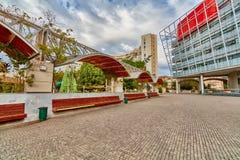 Rishon Letsiyon - 1 December, 2016: Hal ny stad för Rishon letsiyon royaltyfri foto