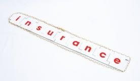 Risico: de behoefte aan verzekering. Stock Foto