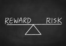 Risico en beloning royalty-vrije stock foto's