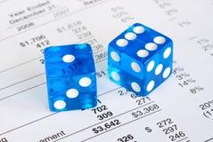 Risico en beloning in zaken Royalty-vrije Stock Foto