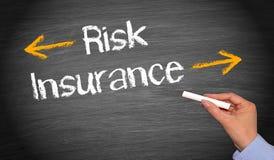 Risico en verzekering stock foto
