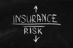 Risico en verzekering Royalty-vrije Stock Foto