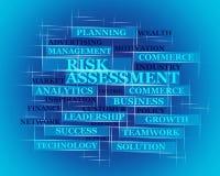 Risico, het concept van het Beoordelingswoord Stock Afbeeldingen