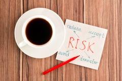 Risico op een servet Stock Foto's