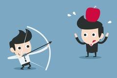 Risico, partnerconcept royalty-vrije illustratie